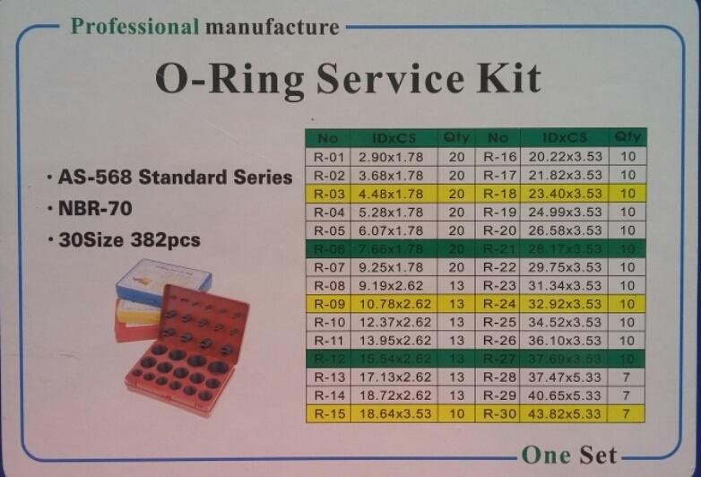 Набор дюймовых колец O-Ring Kit